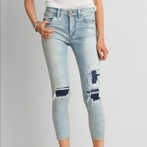 American eagle super super stretch jegging crop